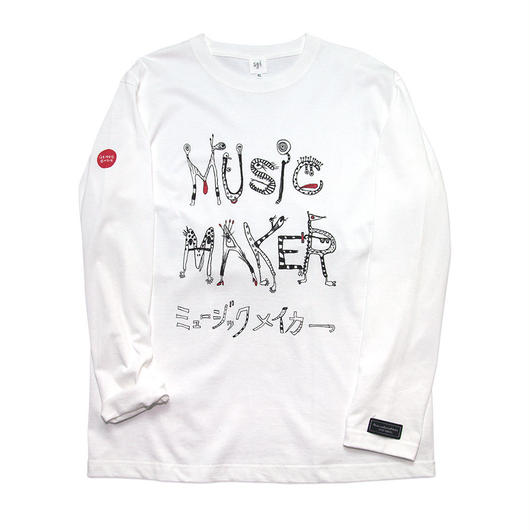 MUSIC MAKER Long-Sleeve T-shirt / 6.2oz WHT - WHT27031BK