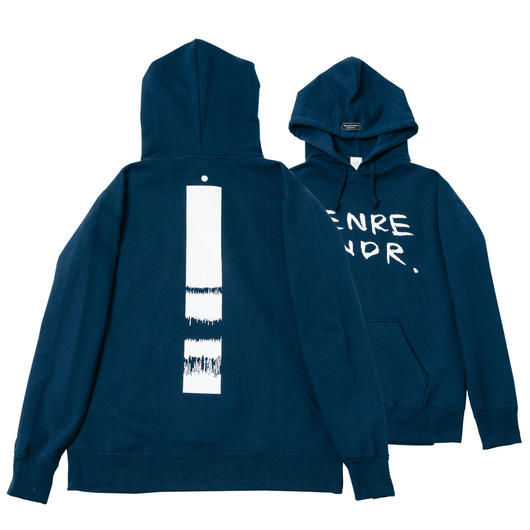 Scratch Back Print / 12.4oz NVY w/GB Hoodie - NVY29566WH