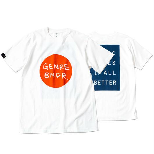 HINOMARU GENRE BNDR T-shirt MMIB / 6.2oz WHT - WHT27005RCR