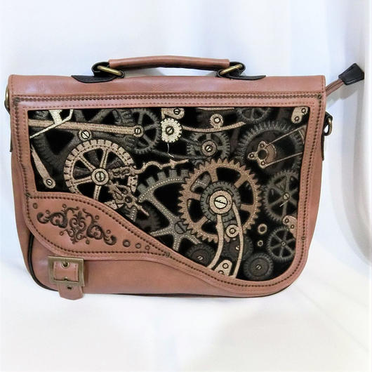 RE-8023  BROWN MECHANISM Briefcase<BRN>