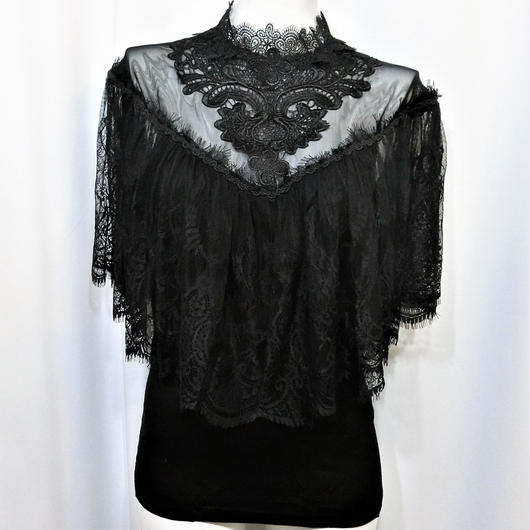 OOS-9644 レースショールゴシックトップス<BLK/S・XL>