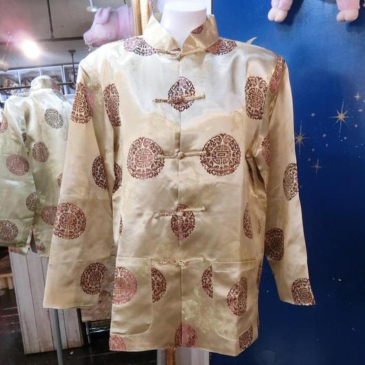 ZO-405A チャイナカンフーシャツ<BEG>