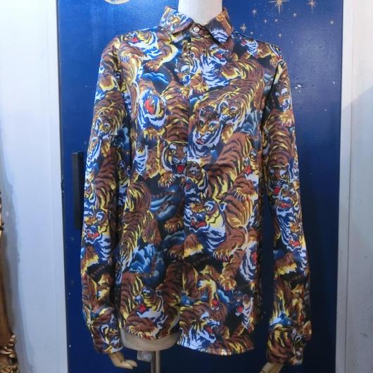 KS-CS029 トラ柄プリントシャツ<トラ/M>