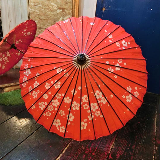 KKS.07560043 蛇の目傘<RED/梅>