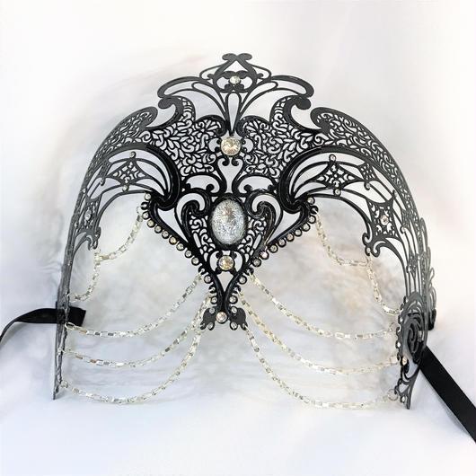 APM-6081 クイーンメタルマスク<BLK>