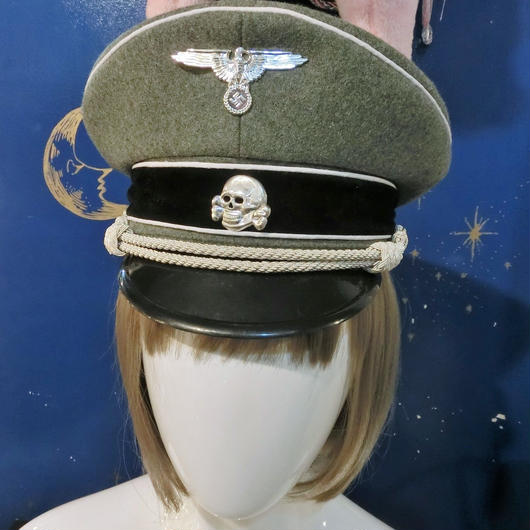 MSS-DE4D1138 ドイツ軍ヴィンテージミリタリーcap<KHA/WHT>