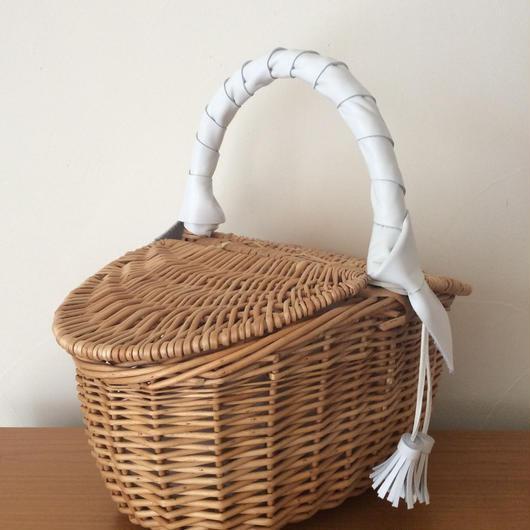 ピクニックかごバッグ Abbyピュア ホワイト