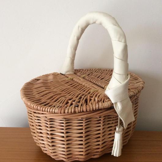 ピクニックかごバッグ Lily バニラホワイト
