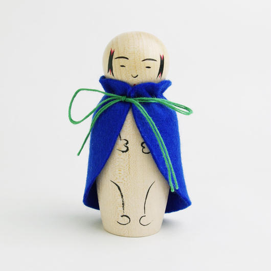 きせかえ赤ちゃんこけし(青)D