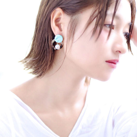 Double circle pierce/earring