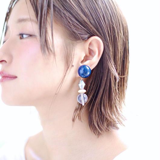 Big  silhouette pierce/earring  NAVY