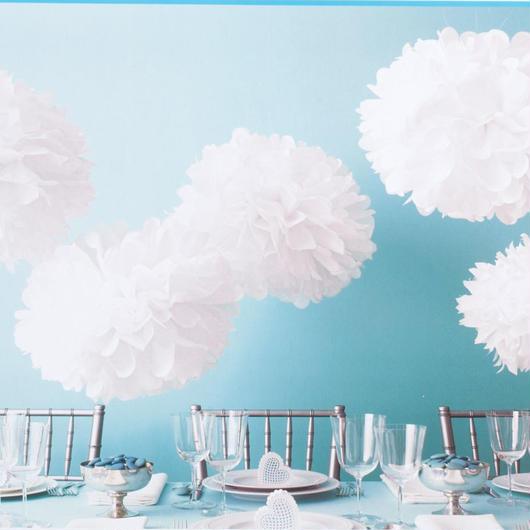 ペーパーポンポン ハニカムボール ペーパーフラワー パーティー 小物 ウェディング 小物 結婚式 アイテム ウエディング 装飾 インテリア ホワイト 5個セット
