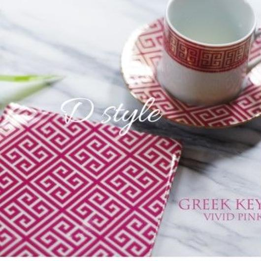 『GREEK KEY』vivid pink