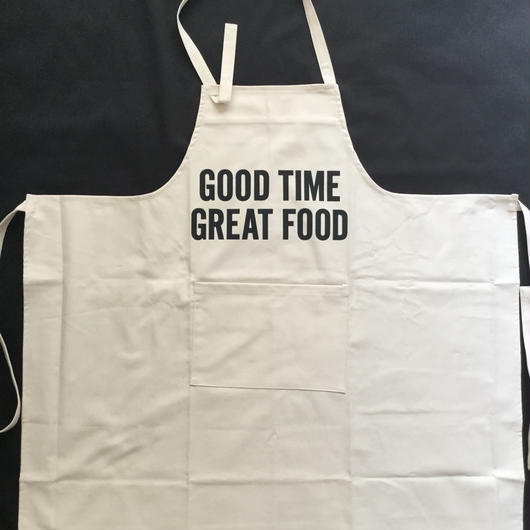 """[新型] DRESSSEN   PR12  THE PROFESSIONAL APRON"""" GOOD TIME GREAT FOOD """" ⭕️2018年4月新発売"""