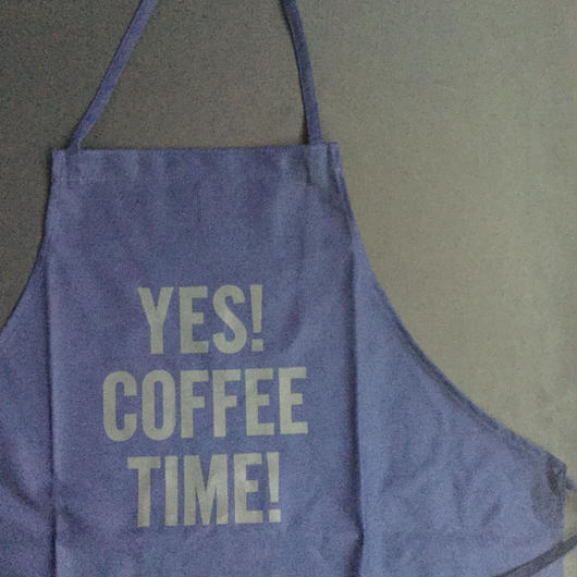 "⭕️[新発売]DRESSSEN DR(NAVY)18APRON ""YES! COFFEE TIME! ""NAVY COLOR"