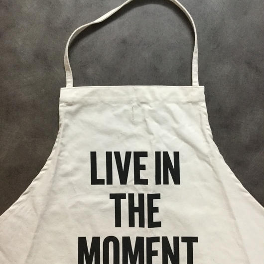 DRESSSEN ADULT APRON  #11   LIVE IN THE MOMENT