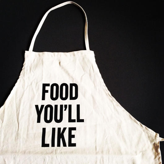 "DRESSSEN ADULT APRON #27 ""FOOD YOU'LL LIKE"""