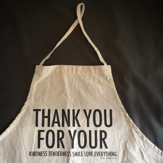 "DRESSSEN×TANGTANG ""THANK YOU FOR YOUR"" APRON(次回入荷未定)"