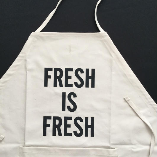 "DRESSSEN DS11 D→SLIDE APRON ""FRESH IS FRESH"