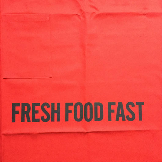 "[新色]DRESSSEN  lower wall long LWLB4 "" FRESH FOOD FAST"" APRON RED  COLOR ⭕️  公式オンラインストアのみの販売です"