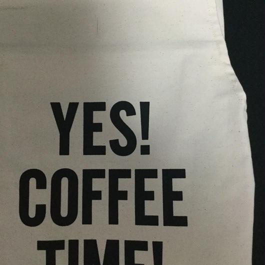 """⭕️[新発売]DRESSSEN PR21  THE PROFESSIONAL APRON"""" YES COFFEE TIME"""" ※首の紐をお好きな位置で結んで固定できます。"""