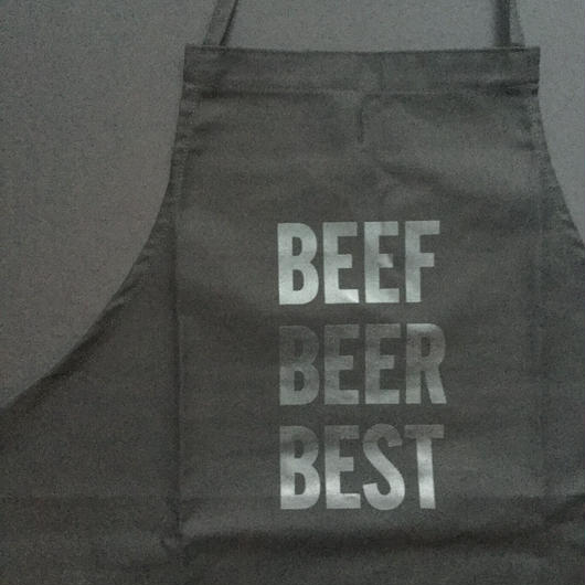 "⭕️[新発売]]DRESSSEN    ADULT APRON  DB(BLK)11 ""BEEF BEER BEST""""BLACK COLOR"