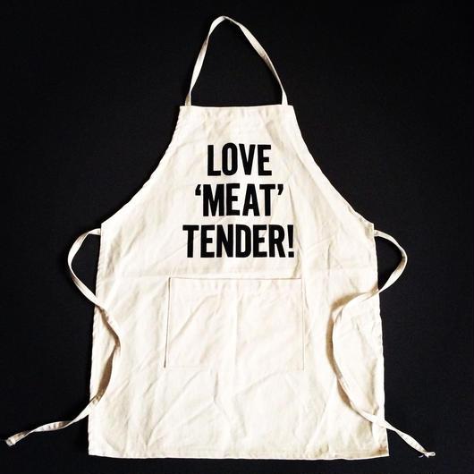 """DRESSSEN KD12 KIDS APRON  """"LOVE """"MEAT"""" TENDER""""(※キッズエプロンです)🔴今回で生産終了とさせていただきます。よろしくお願い申し上げます。"""