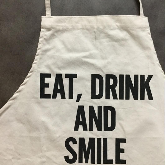 DRESSSEN ADULT APRON #46 EAT,DRINK AND SMILE🔴再入荷しました!