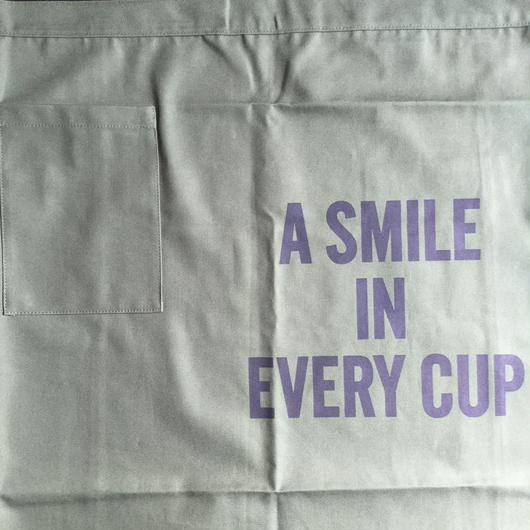 "[新色]DRESSSEN  lower wall long LWL(G)5""SMILE IN EVERY CUP""APRON GREENCOLOR ⭕️こちらの商品はオンラインストア限定発売です"