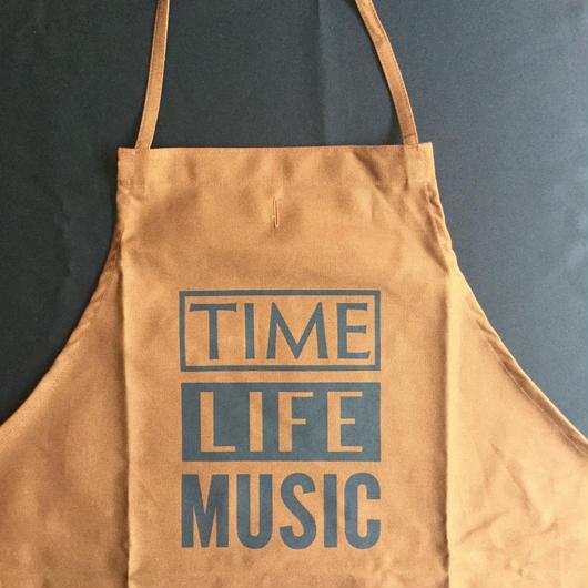 """⭕️[限定発売]DRESSSEN DR(BRN) APRON  """"TIME LIFE MUSIC""""BROWN  COLOR ※こちらの商品はDRESSSEN 公式オンラインストア限定発売です❗️"""