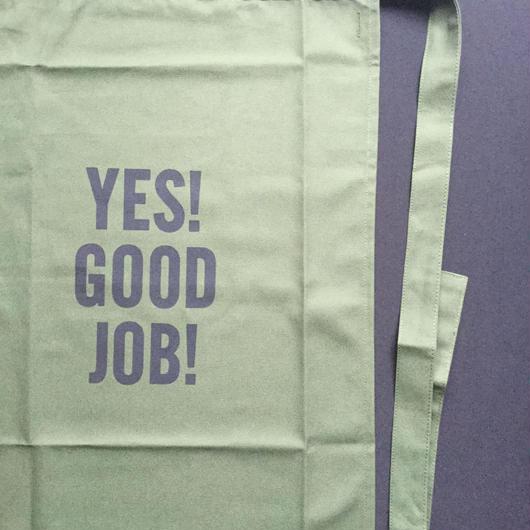 """[新色]DRESSSEN  lower wall long LWL(G)2 """"YES! GOOD JOB!""""APRON GREENCOLOR ⭕️こちらの商品はオンラインストア限定発売です。"""