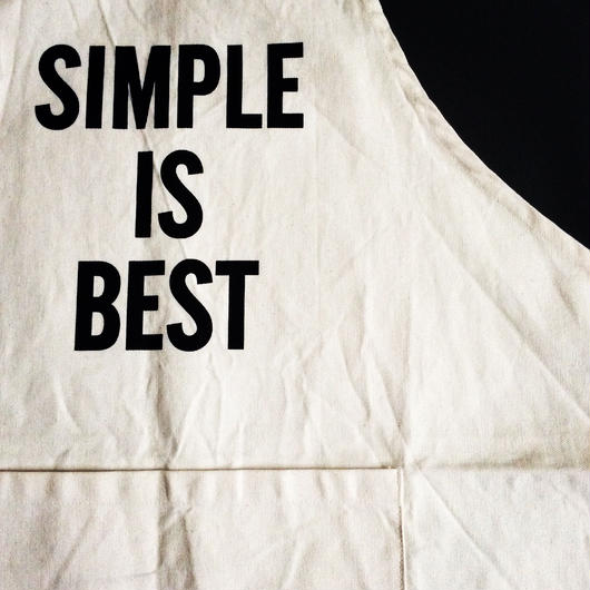 "DRESSSEN ADULT APRON #16 ""SIMPLE IS BEST"""