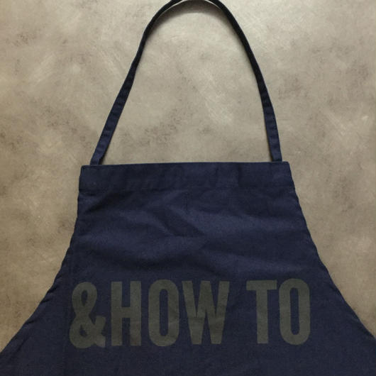 "DRESSSEN DR(NAVY)8 APRON ""&HOW  TO"""