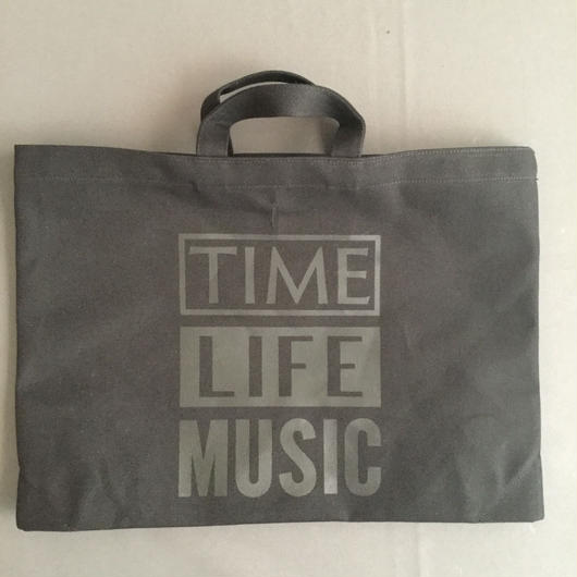 "DRESSSEN DTBC21  TOTE BAG DRESSSEN  "" TIME LIFE MUSIC  "" BLACK COLOR ⭕️2018年4月新発売"