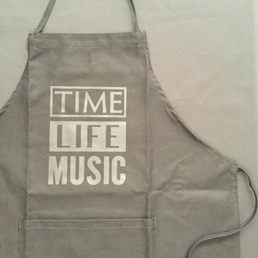 "[新色] DRESSSEN  ADULT APRON   DB(BLK)4 ""TIME LIFE MUSIC ""BLACK COLOR"