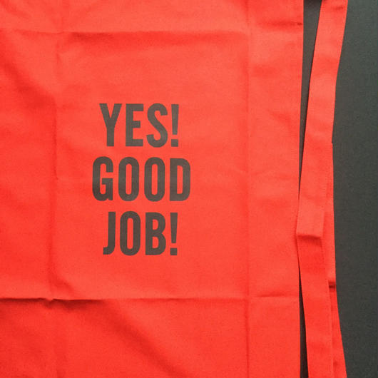 "[新色]DRESSSEN  lower wall long LWLB2"" YES! GOOD JOB!"" APRON RED  COLOR ⭕️2018年9月28日新発売"