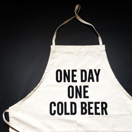 DRESSSEN ADULT APRON #39 ONE DAY ONE COLD BEER