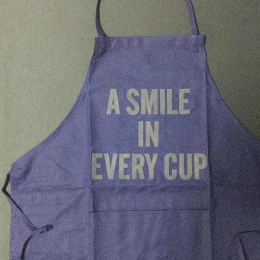 "⭕️[新発売]DRESSSEN DR(NAVY)19 APRON ""A SMILE IN EVERY CUP ""NAVY COLOR"