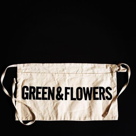 """DRESSSEN LW15 LOWER WALL APRON  """"GREEN&FLOWERS"""""""