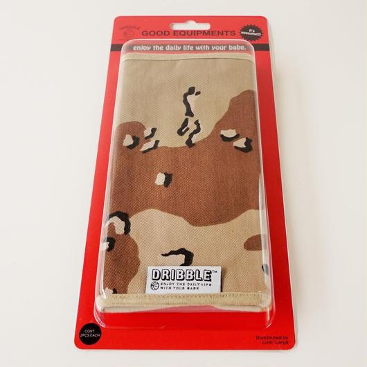 DRIBBLE ミルスペック カモ ストラップカバー / チョコレートチップパターン