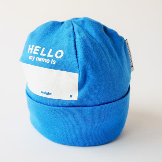 """DRIBBLE """"HELLO MY NAME IS"""" ビーニー / BLUE"""