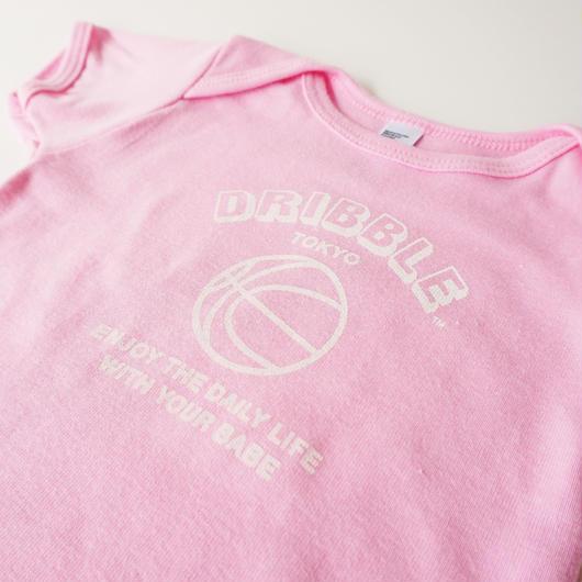 DRIBBLE ハンドプリント ロゴTシャツ / PINK