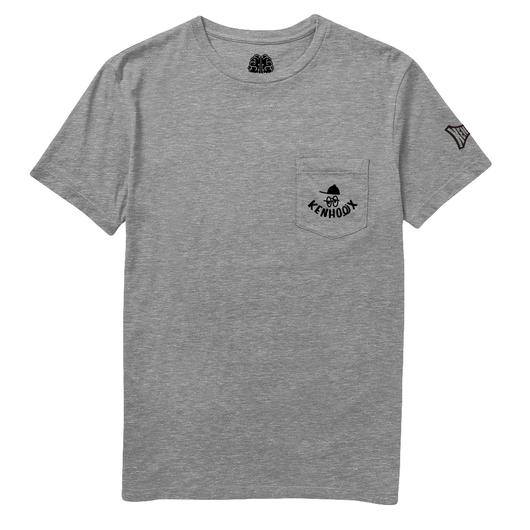 KENHOLIX WHT Label Logo Pocket Tee  -Gray-