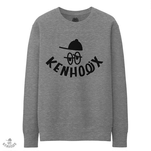 WHT Label Logo Sweatshirt -Gray-