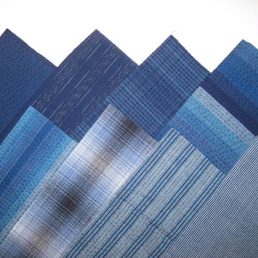 阿波しじら織 藍色8枚セット