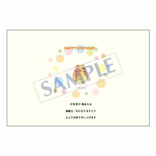 メッセージカード バースデー 11-0541 1セット(10枚)