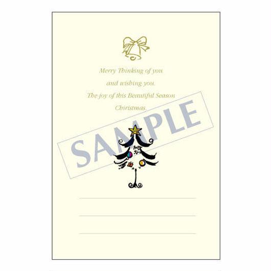 メッセージカード クリスマス 10-0489 1セット(10枚)