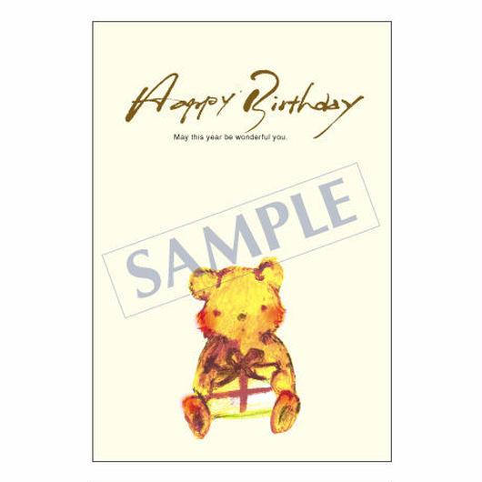 メッセージカード バースデー 11-0544 1セット(10枚)