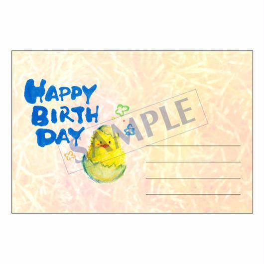 メッセージカード バースデー 14-0662 1セット(10枚)