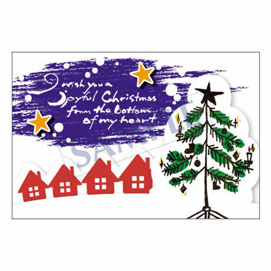 メッセージカード クリスマス 12-0613 1セット(10枚)